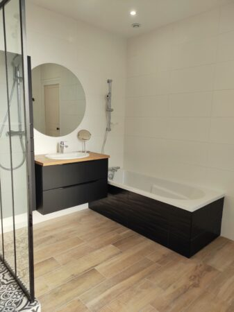 salle de bain baignoire st meen le grand